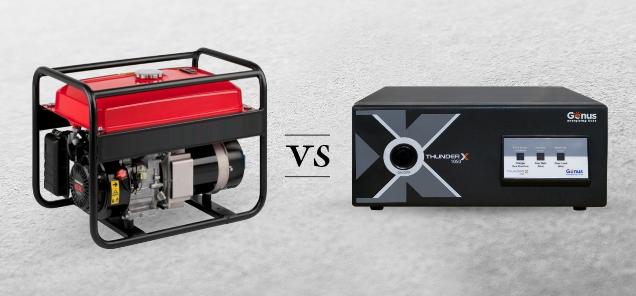 Generator v/s Inverter Back-up: Pros and Cons