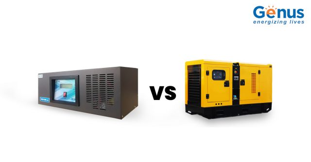 Generator vs Inverter Back-up Pros and Cons : Infographic